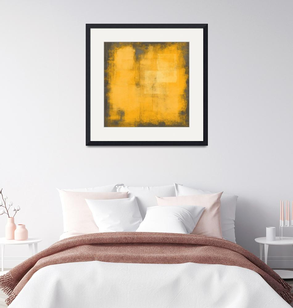 """""""Yellow gray abstract #17""""  (2019) by EmericoStyle"""