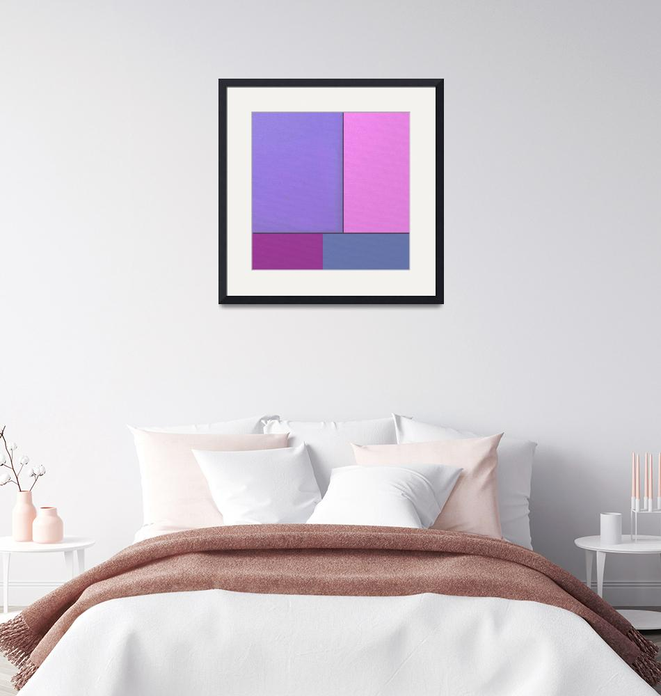"""Abstract Art Modern Geometric Color Fields Retro""  by masterpiecesofart"