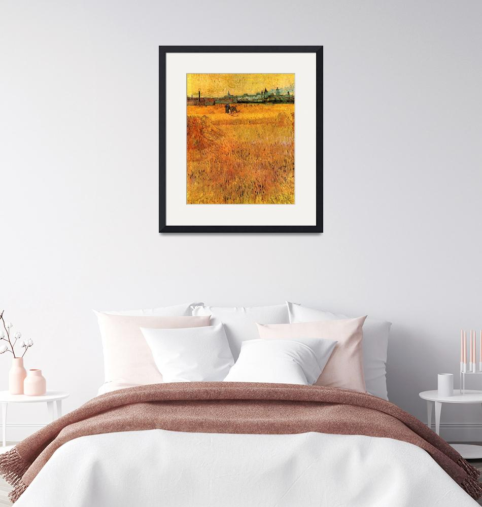 """""""Arles View from the Wheat Fields""""  by ArtLoversOnline"""