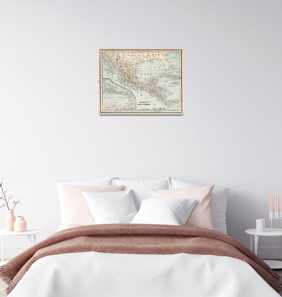 """""""Vintage Map of Mexico (1893)""""  by Alleycatshirts"""