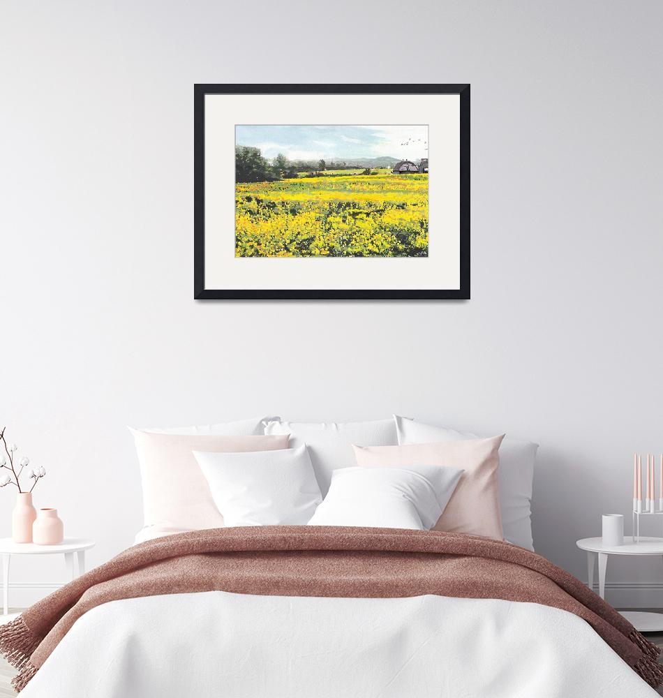 """SPRING COLORS YELLOW MUSTARD FIELDS MARYLAND LANDS""  by grl"