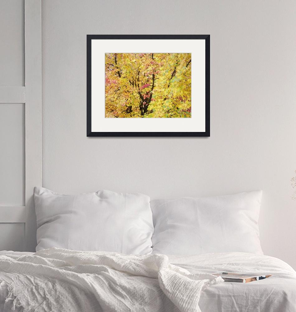 """""""Yellow Tree Autumn Leaves Fall Trees art prints na""""  (2013) by BasleeTroutman"""
