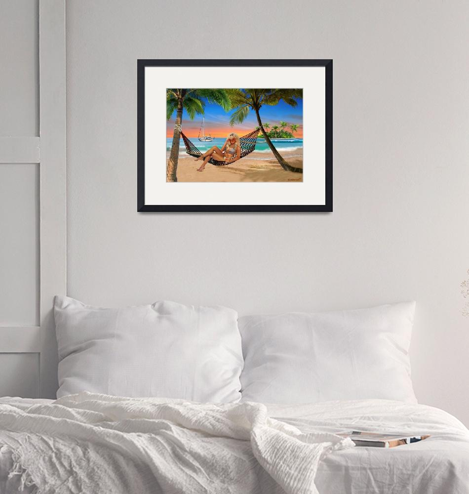 """""""HAPPY HOUR ON THE BEACH""""  (2017) by HolbrookArt"""