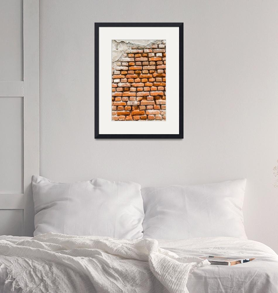 """""""A closer look to a brick wall""""  (2010) by sebnemkoken"""