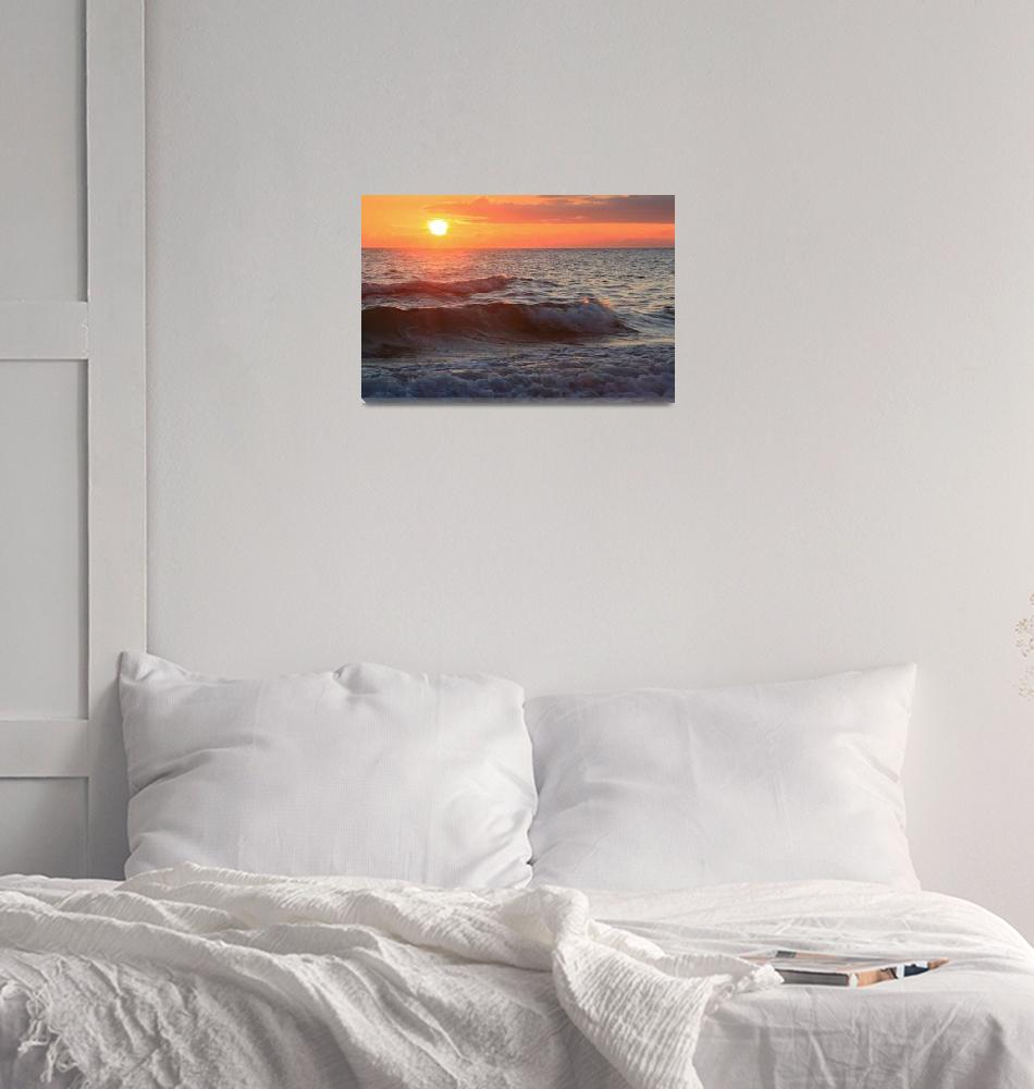 """""""Sunset and Waves""""  by WorldDesign"""
