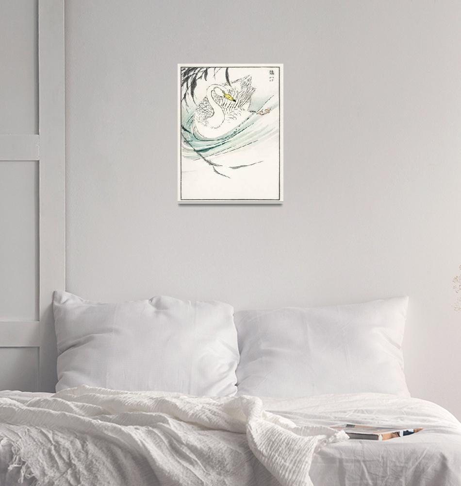 """""""Wooper Swan by Numata Kashu""""  by FineArtClassics"""