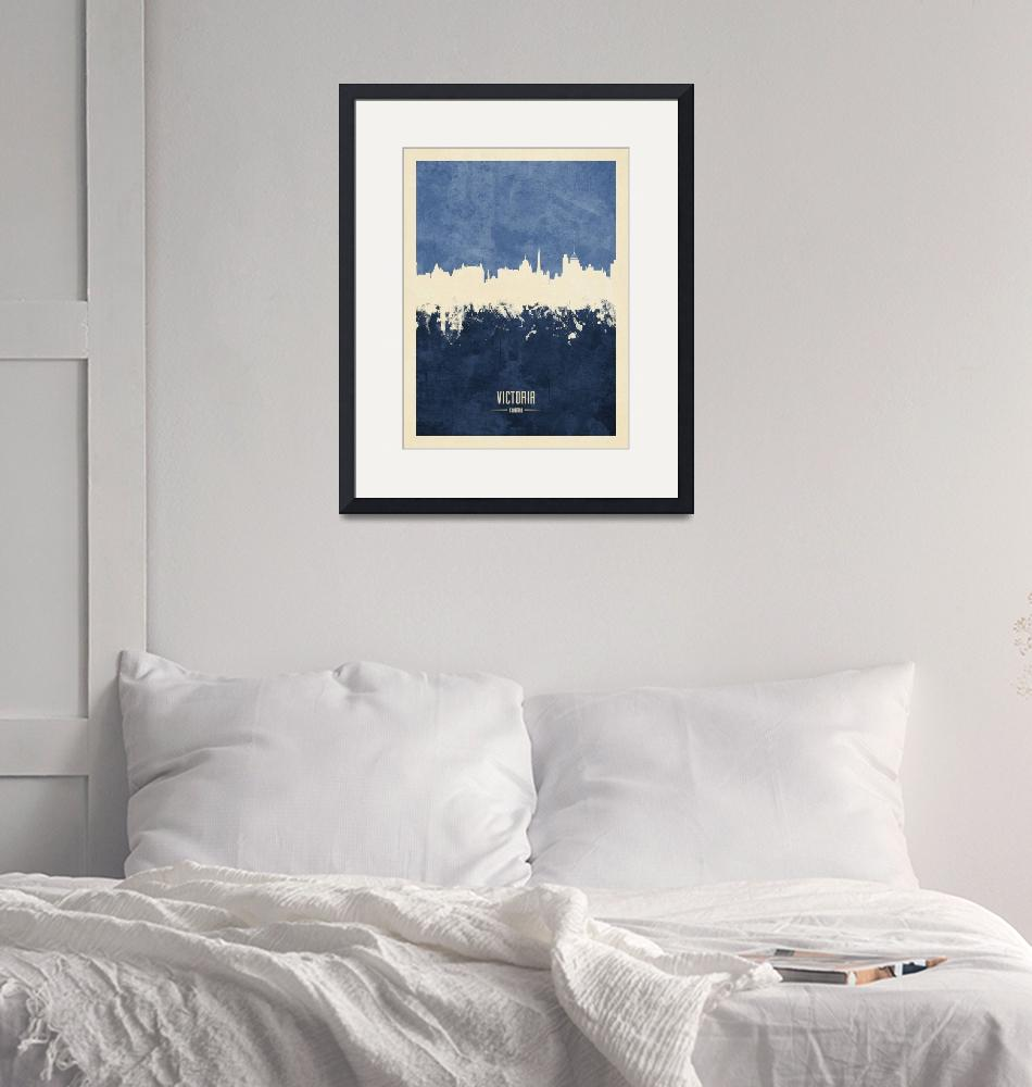 """Victoria Canada Skyline""  (2019) by ModernArtPrints"