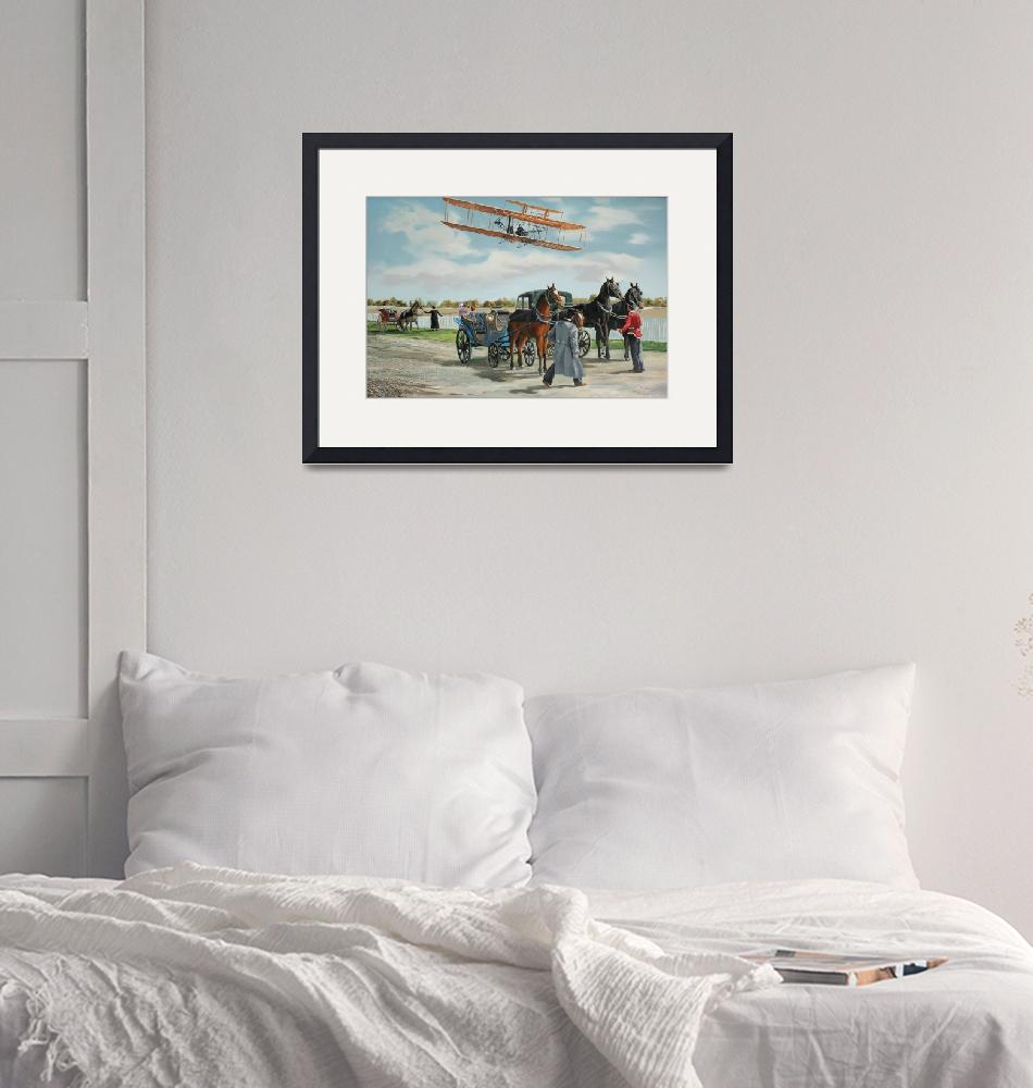 """""""Wilbur Wright in France""""  (2000) by KenYoung"""