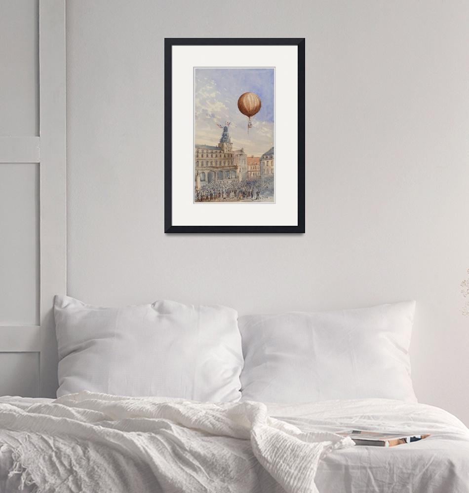 """Hot Air Balloon Illustration by Camille Gravis""  by FineArtClassics"