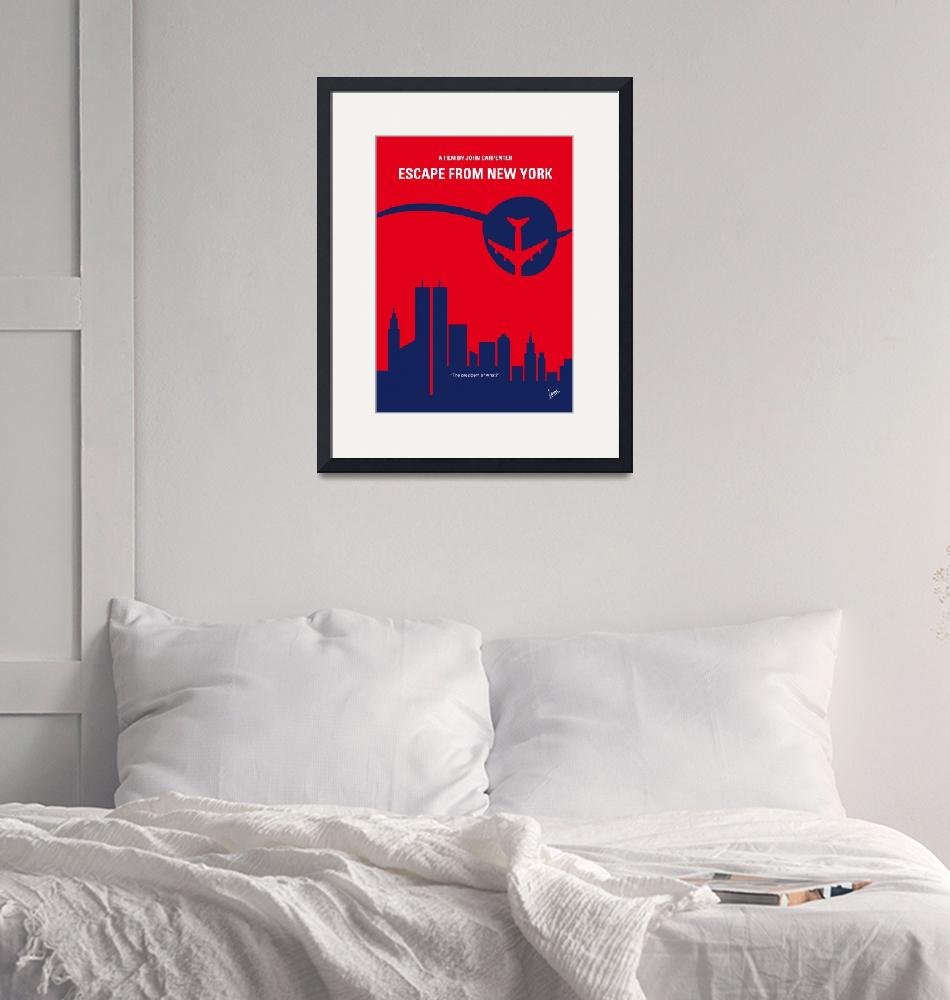 """""""No219 My Escape from New York minimal movie poster"""" by Chungkong"""