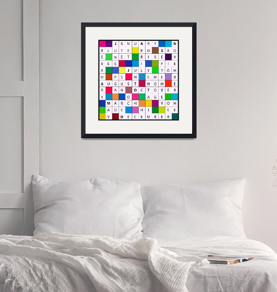 """Calendar Crossword Design""  (2013) by EmmaLuLu"