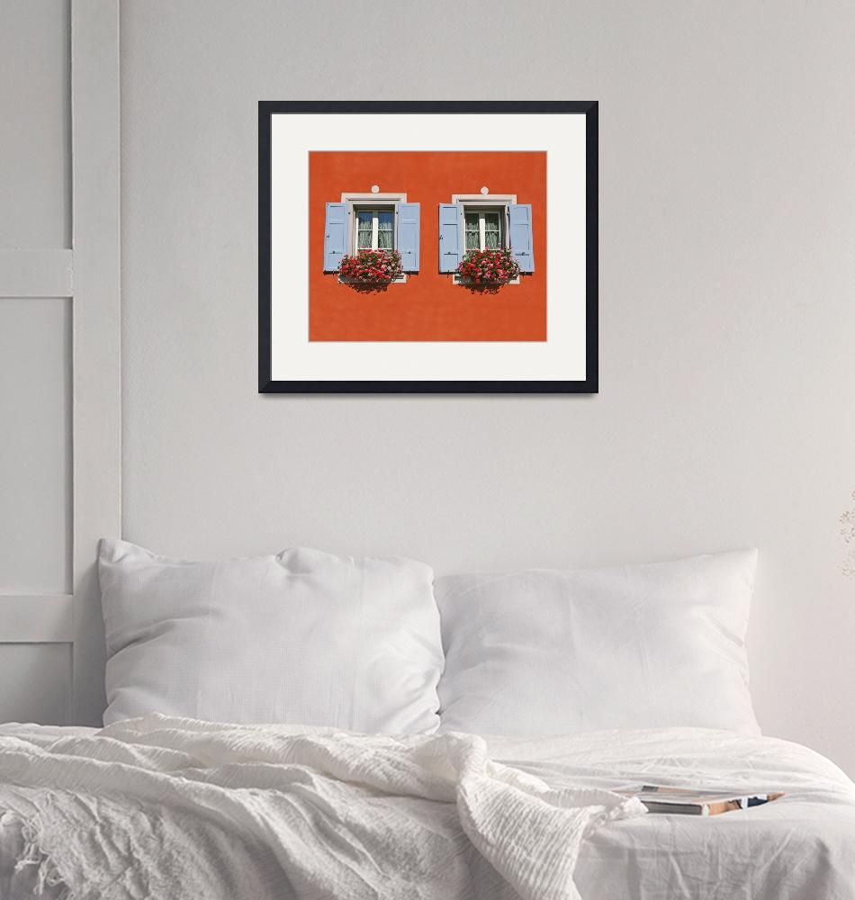"""""""Red Wall With Two Windows""""  (2008) by tommyrey"""