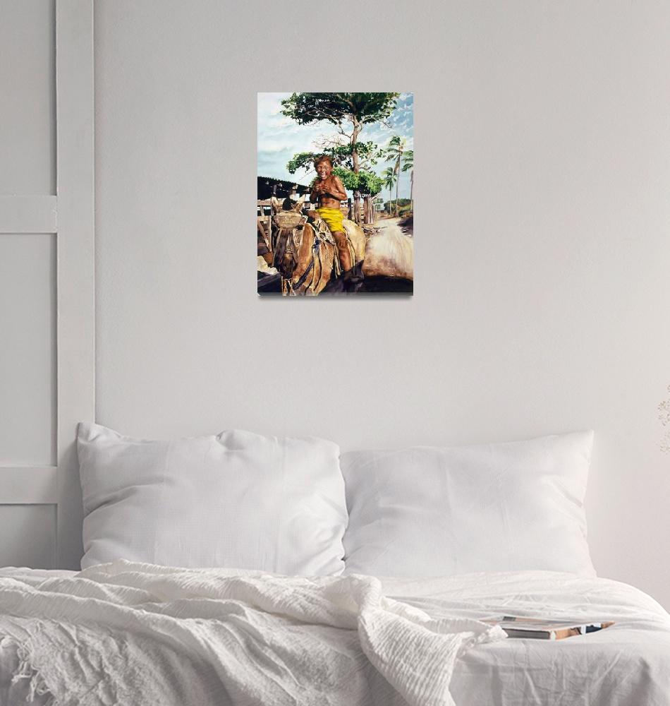 """Future Cowboy at Esterillos Beach, Costa Rica""  by SunshineONealQualls"