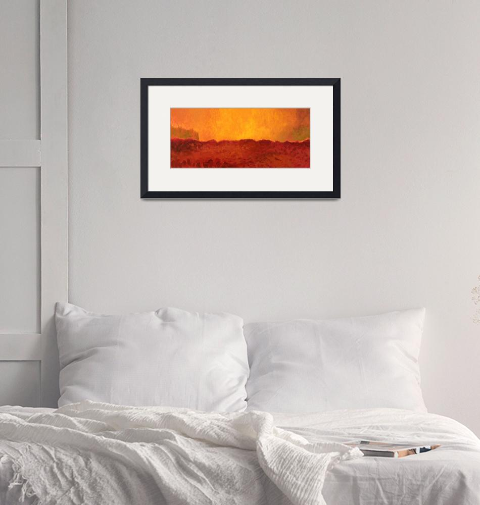 """""""Field at Sunset""""  by anthony"""