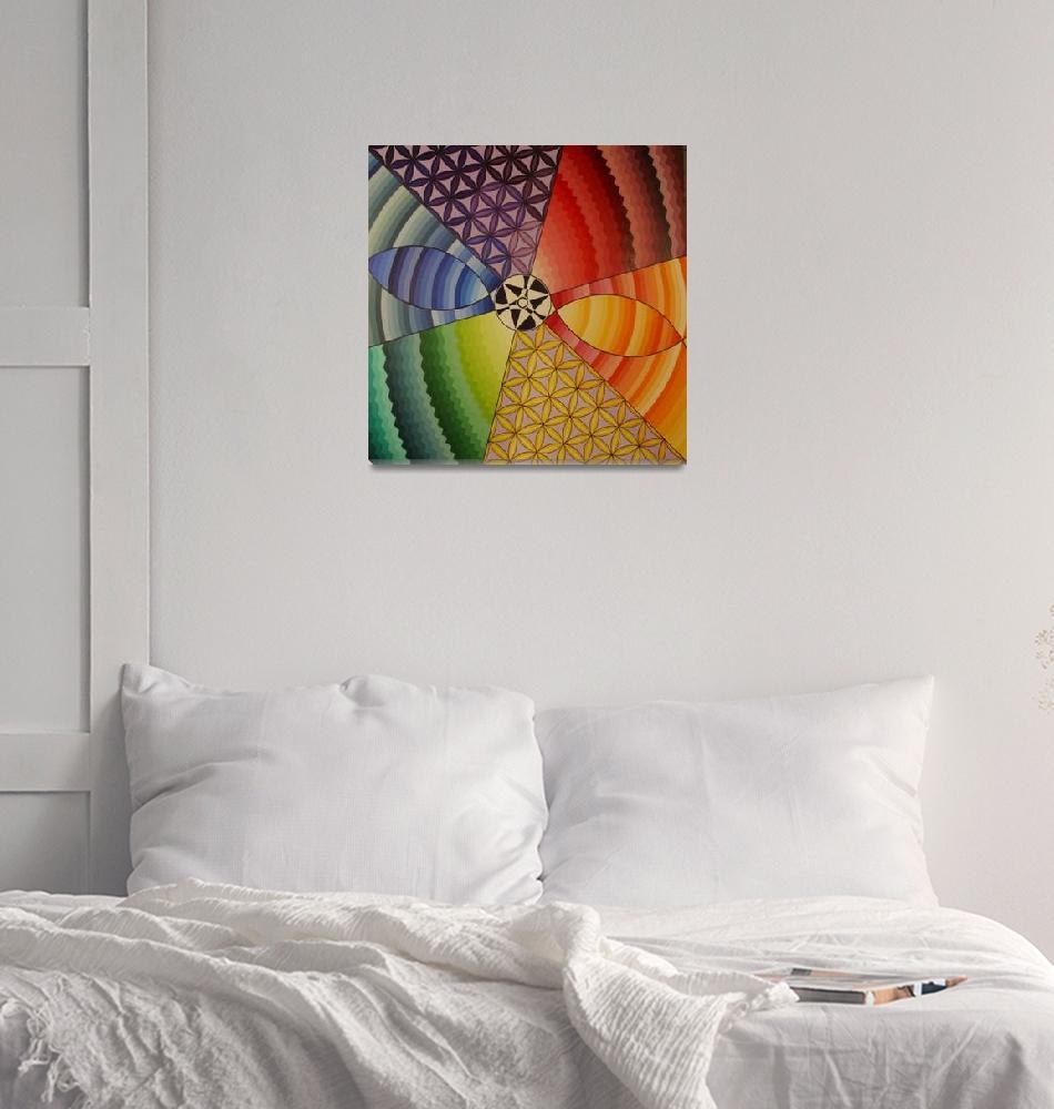 """rainbow mandala""  (2000) by igniteintolight"