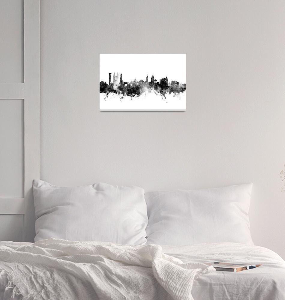 """St Andrews Scotland Skyline""  (2018) by ModernArtPrints"