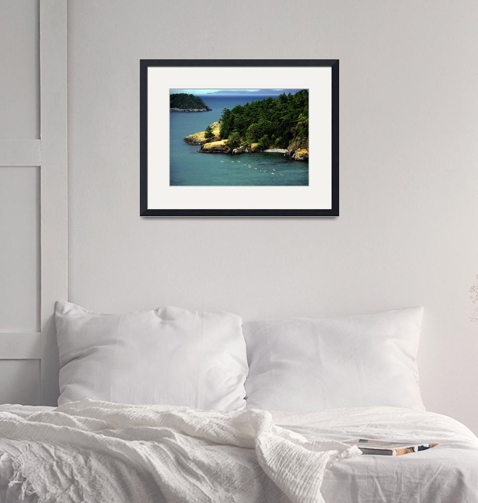 """""""Deception Pass Kayakers""""  by gopnw"""