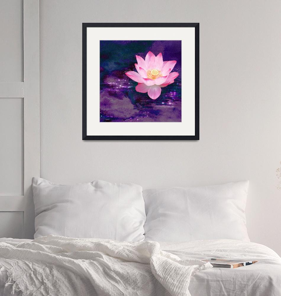 """Lightness finds the Lotus""  (2005) by AArtOnWall"