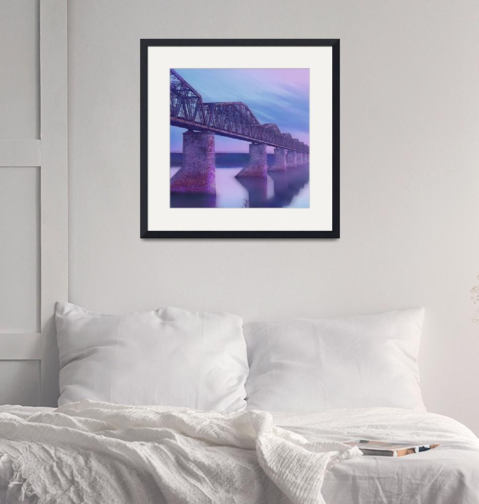 """Hope Bridge Soft"" (2013) by RubinoFineArt"