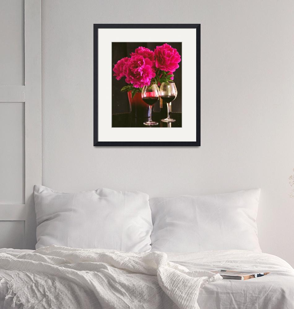 """""""Peonies and wine""""  (2012) by gmart"""
