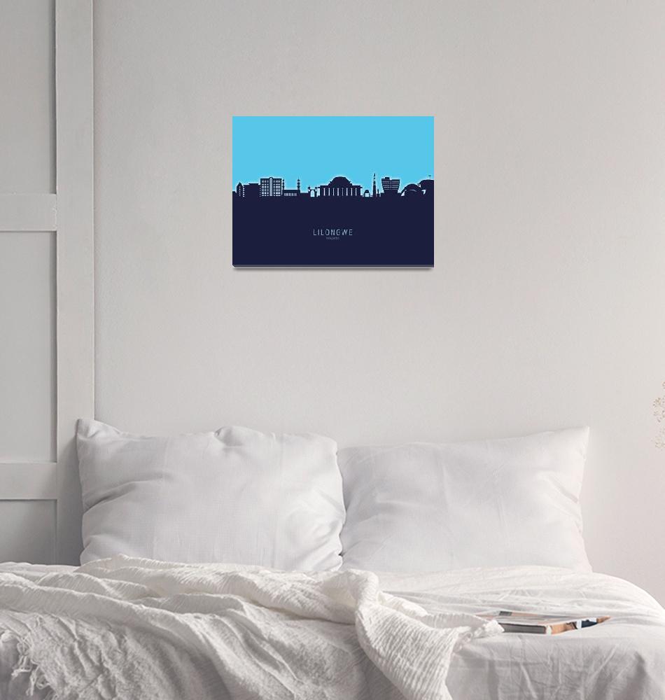 """Lilongwe Malawi Skyline""  (2020) by ModernArtPrints"