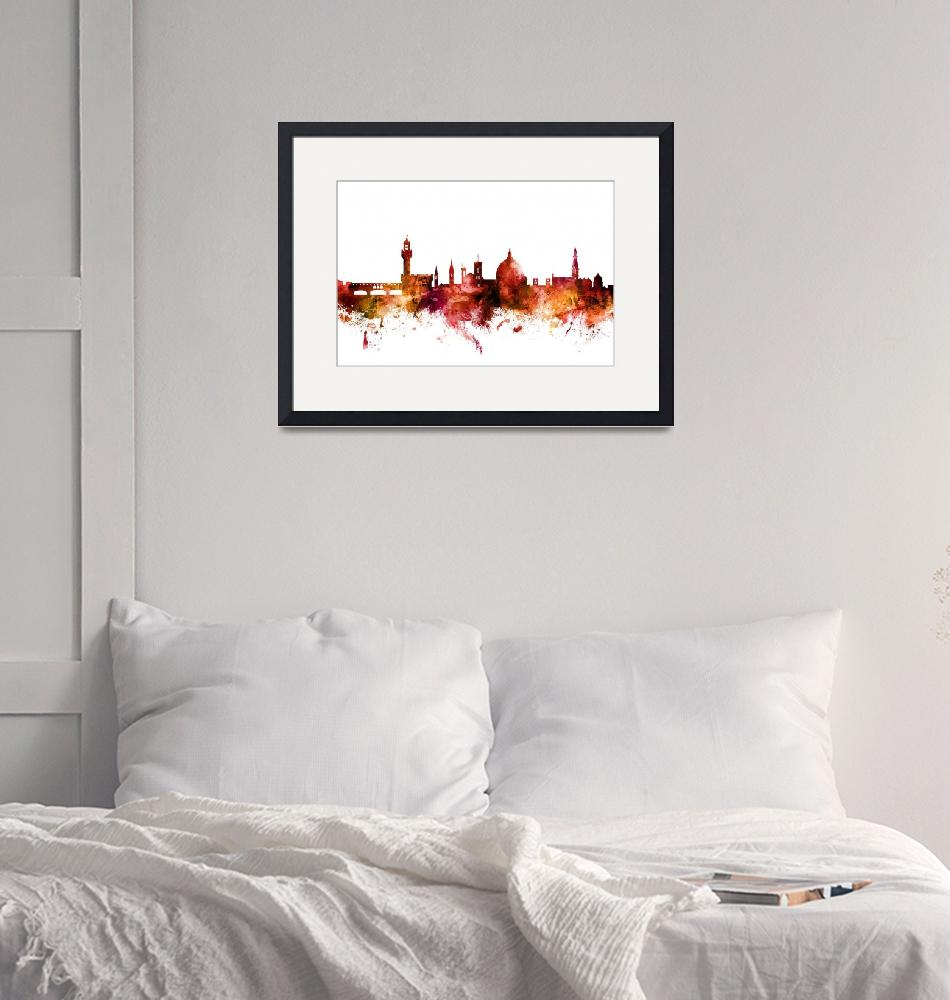 """Florence Italy Skyline""  (2018) by ModernArtPrints"