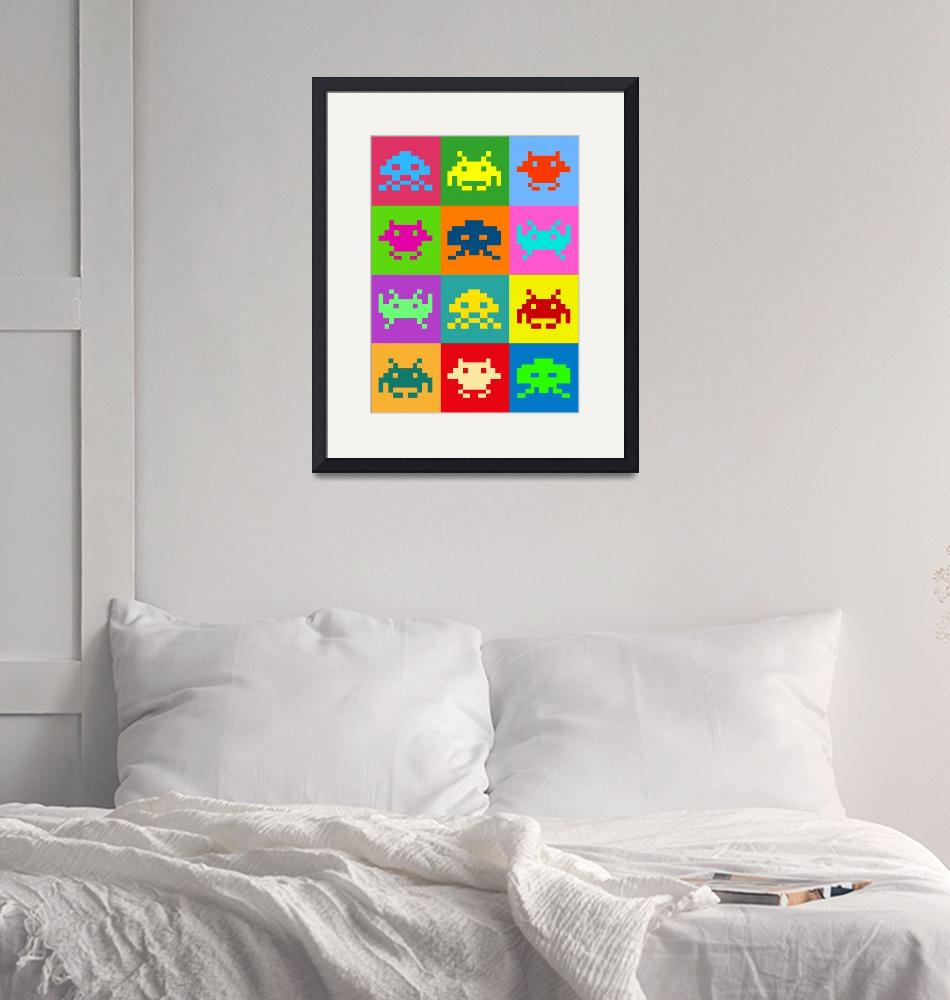 """""""Space Invaders Squares""""  (2010) by ModernArtPrints"""