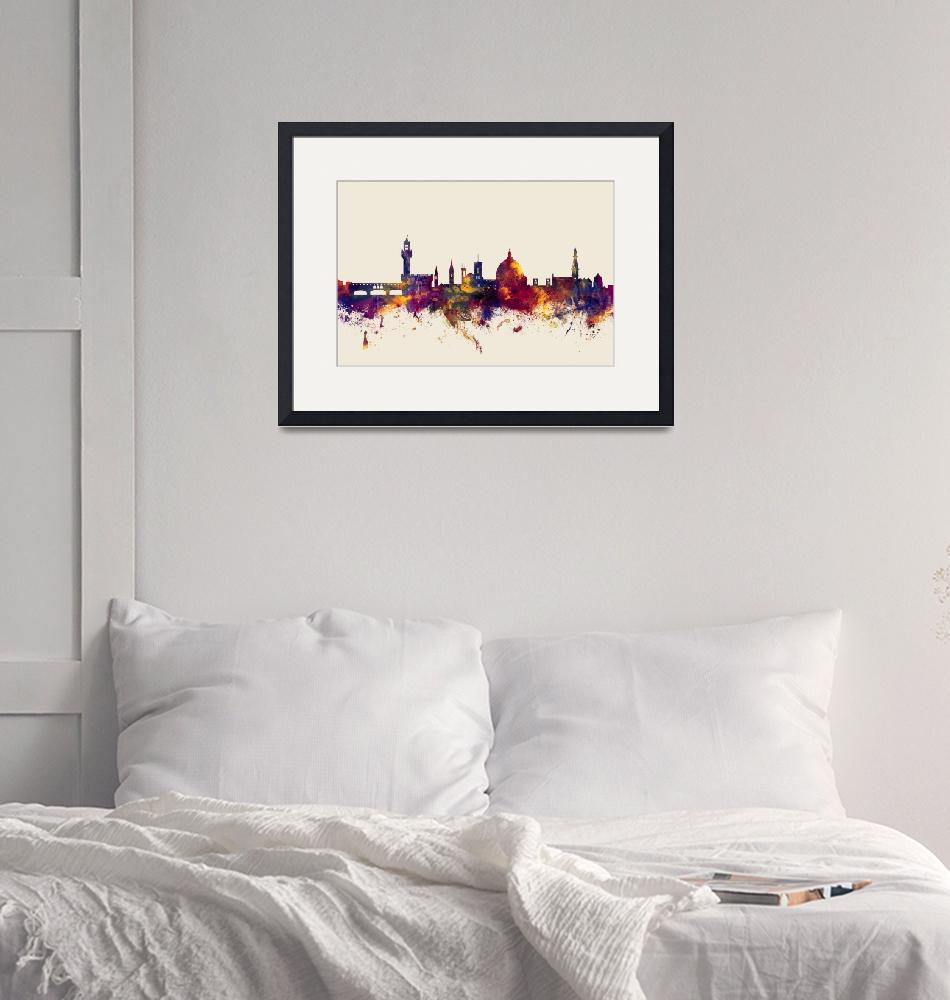 """Florence Italy Skyline""  (2015) by ModernArtPrints"