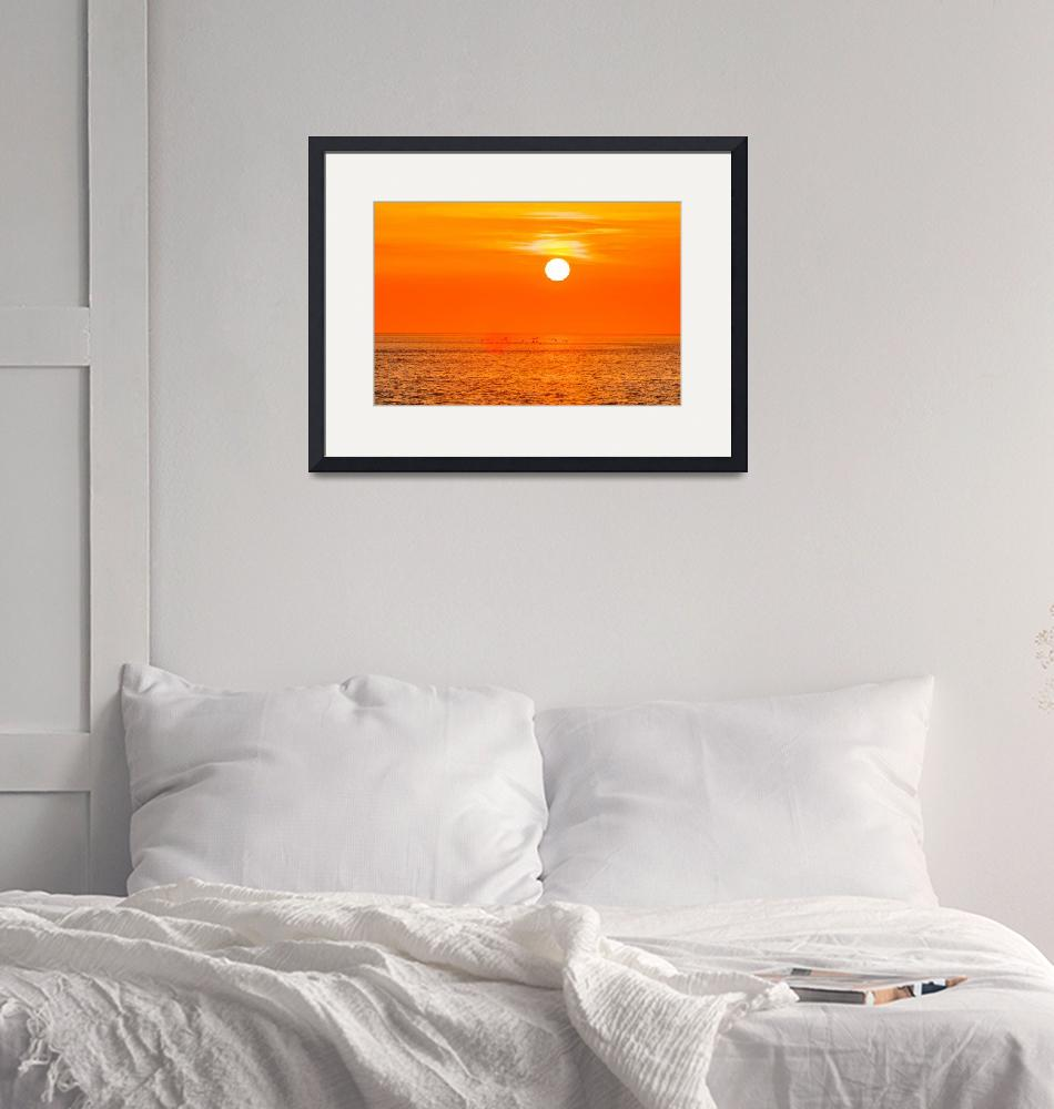 """""""sunset at sea with multiple color prizm"""" by digidreamgrafix"""