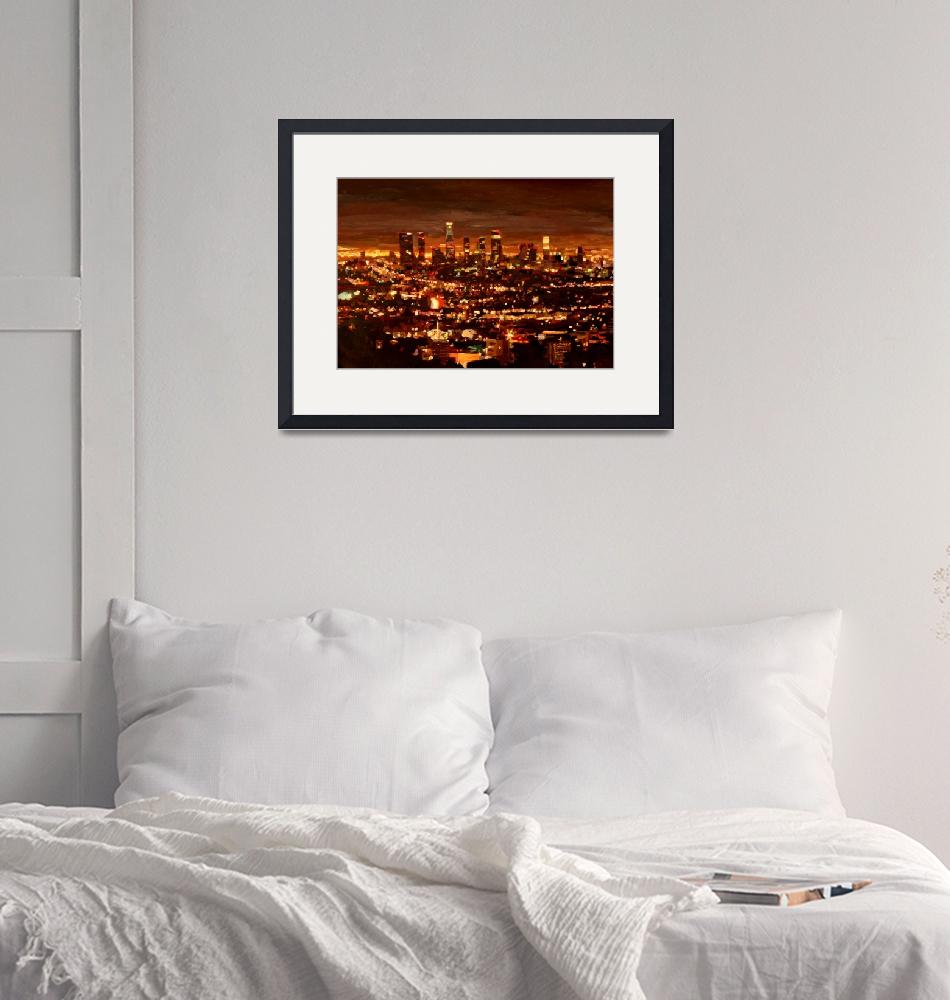 """""""City of Angels - City of Light - Los Angeles"""" (2012) by arthop77"""