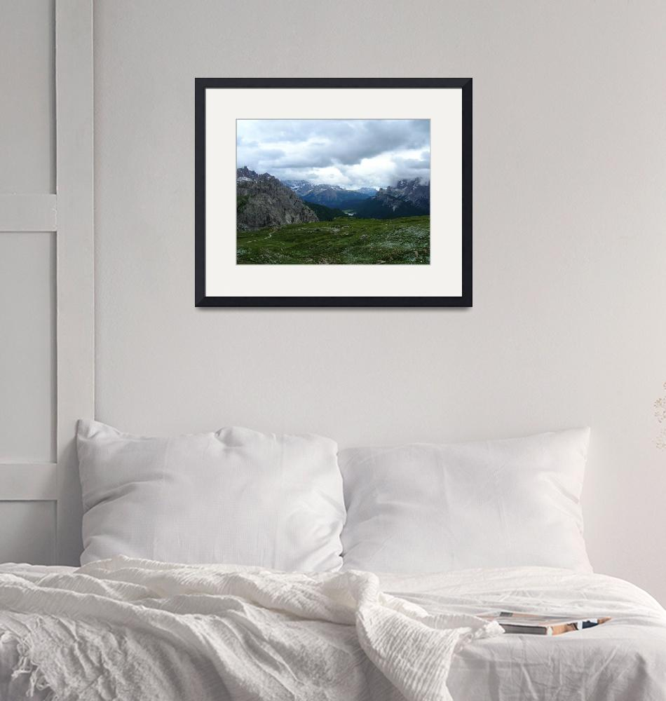 """""""Clouds Covering Mountains""""  (2006) by Geordag"""