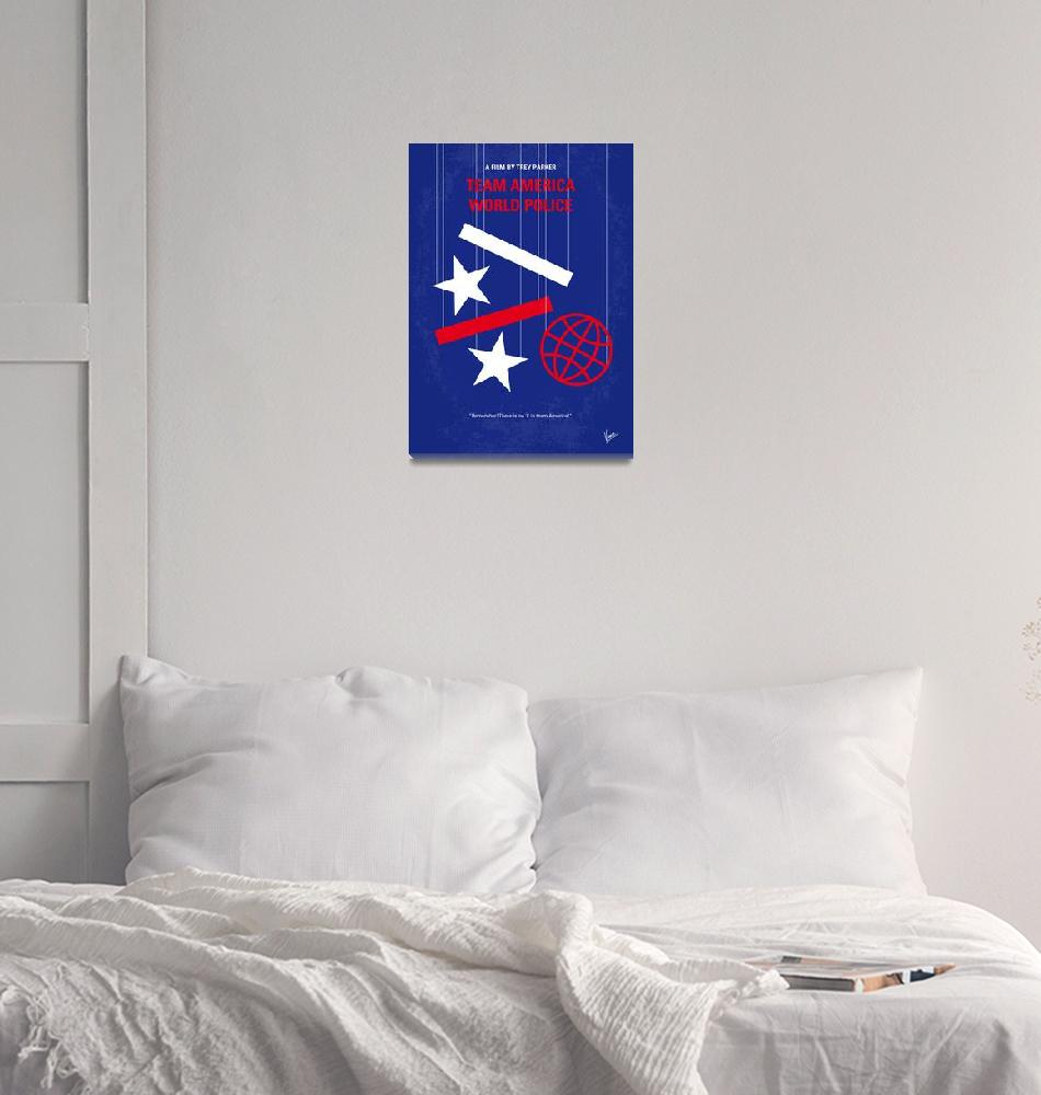"""No475 My Team America minimal movie poster""  by Chungkong"