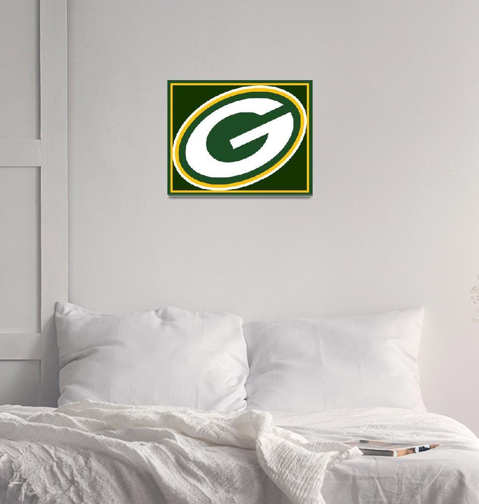 """Green Bay Packers""  (2015) by RubinoFineArt"