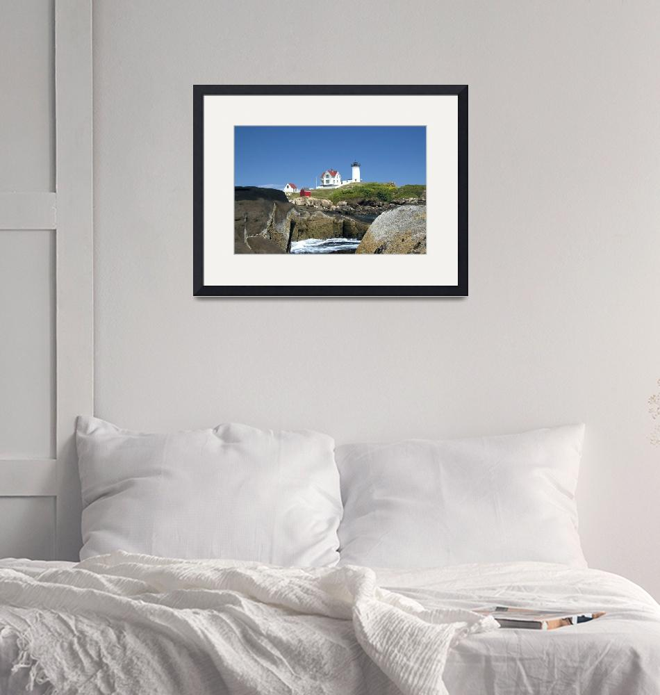 """""""Nubble Lighthouse in York, ME""""  by sphraner"""