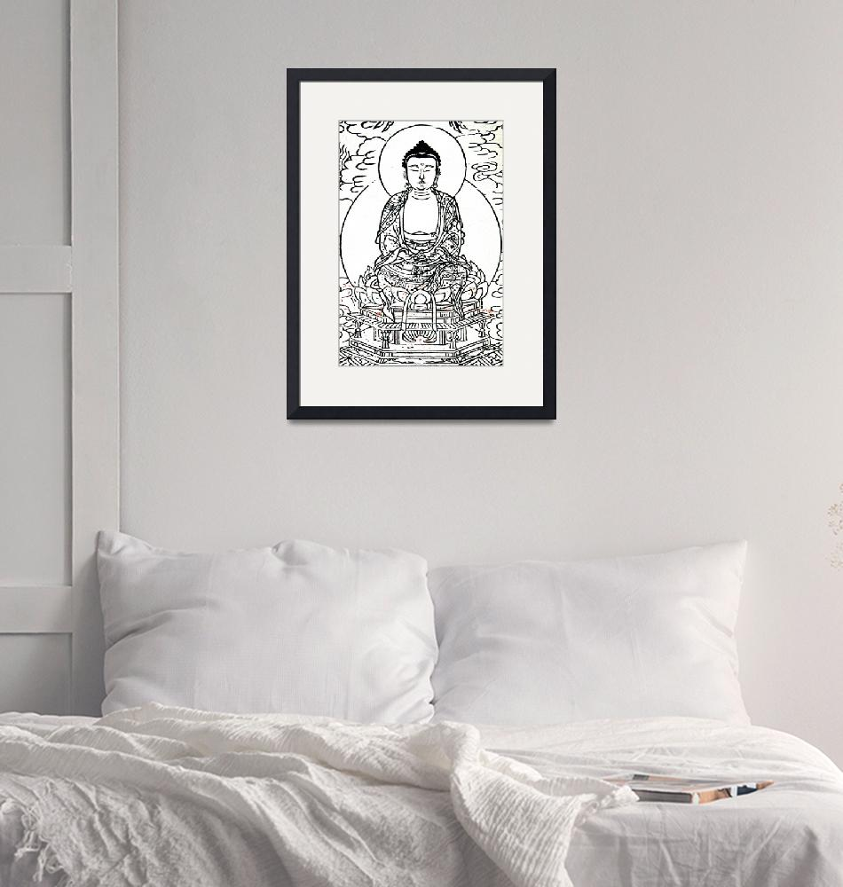 """""""Buddhist Monk on Lotus""""  (2011) by ideaproductions"""