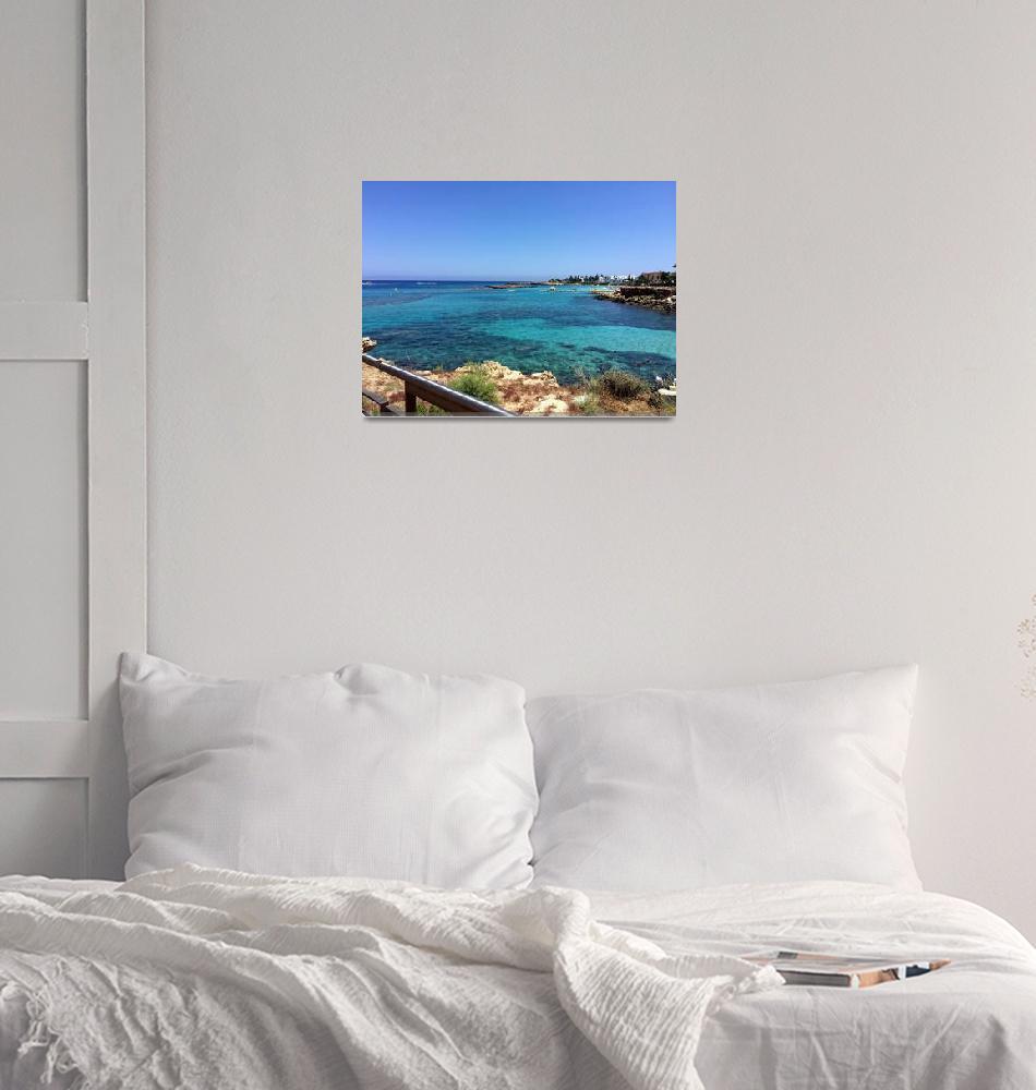 """Fig Tree Bay, Cyprus""  (2015) by Artsart"