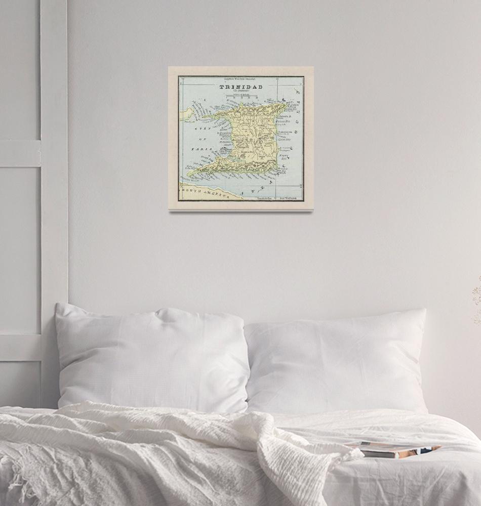 """""""Vintage Trinidad Island Map (1901)""""  by Alleycatshirts"""