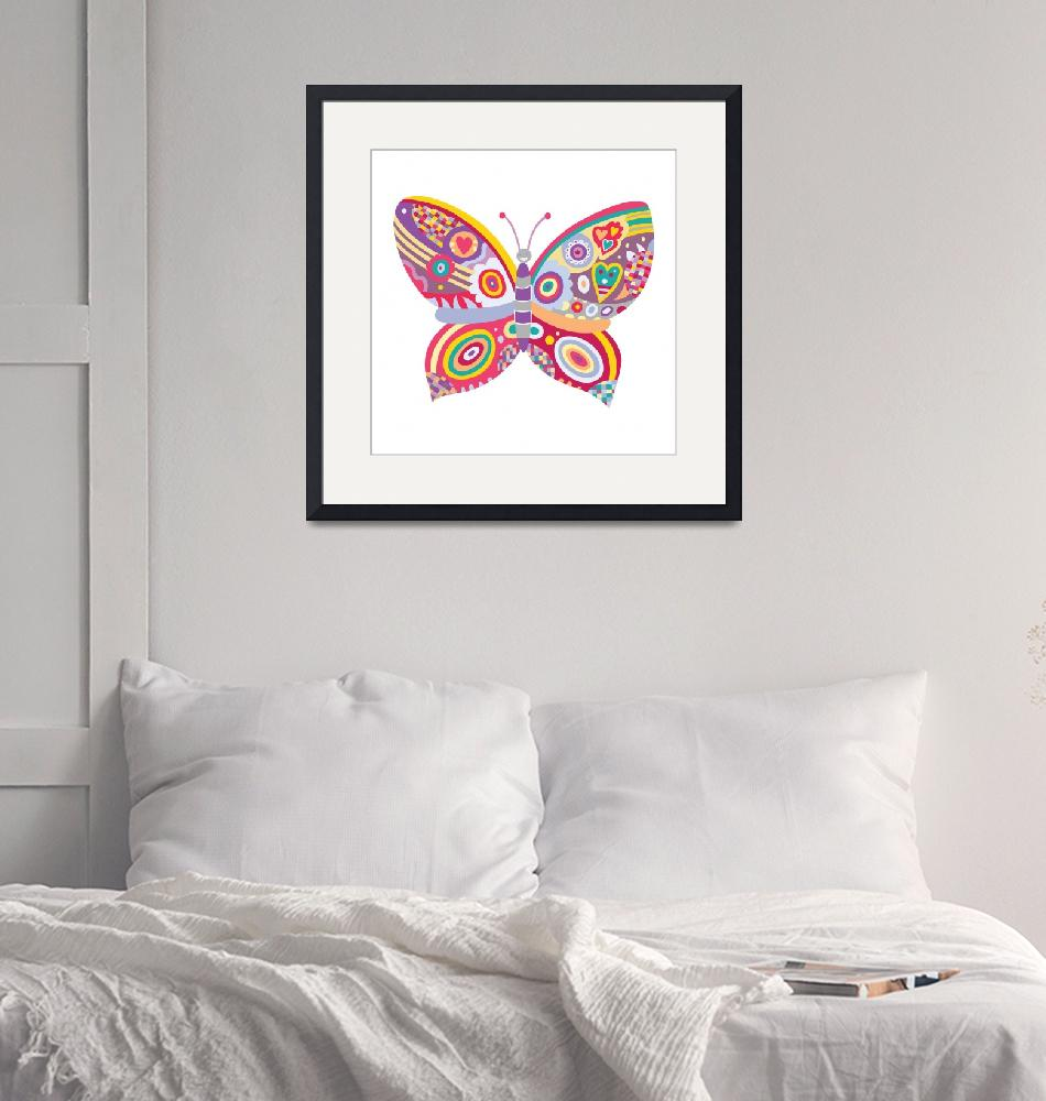 """""""Patchwork Butterfly""""  (2010) by AdinaC"""