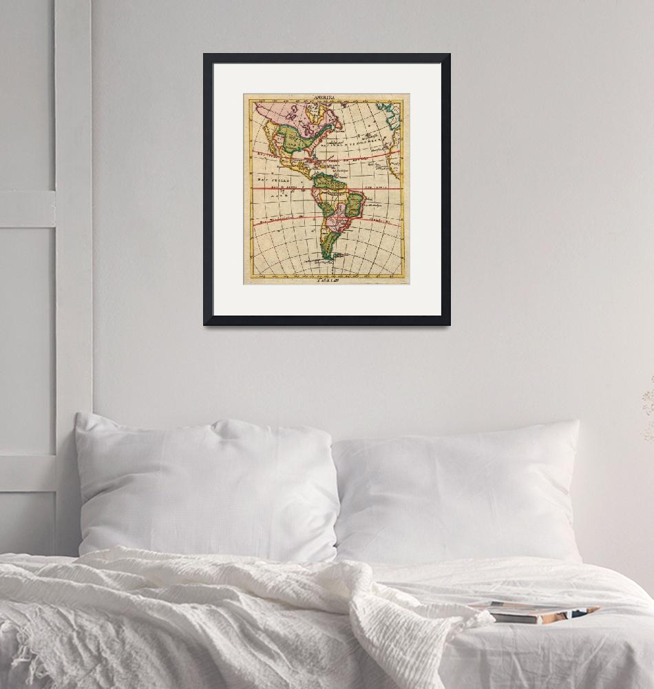 """""""Vintage Map of North & South America (1899)""""  by Alleycatshirts"""
