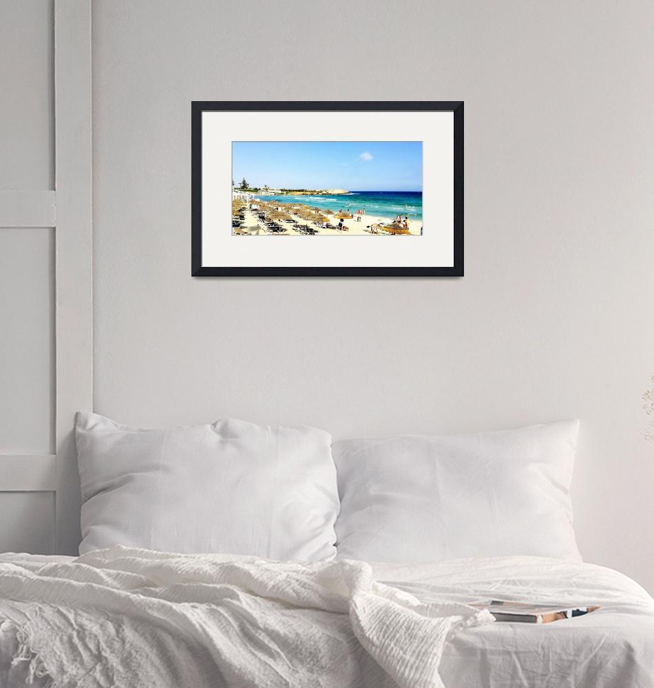 """Fun on the Beach at Ayia Napa, Cyprus""  by Artsart"