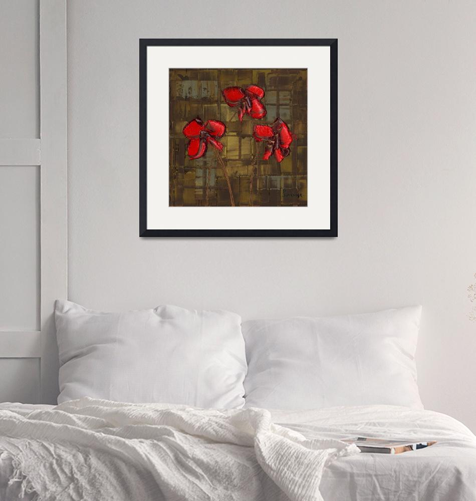 """""""red poppies""""  by modernhouseart"""