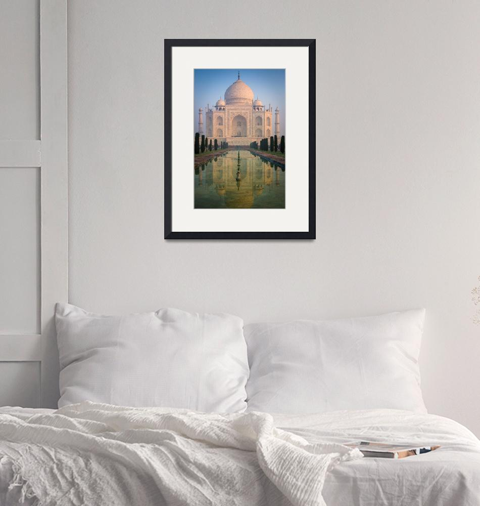 """Taj Mahal Dawn Reflection""  (2013) by Inge-Johnsson"