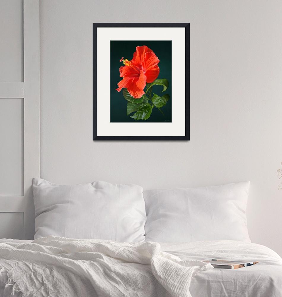 """""""Red Darling Hibiscus""""  (2018) by spadecaller"""