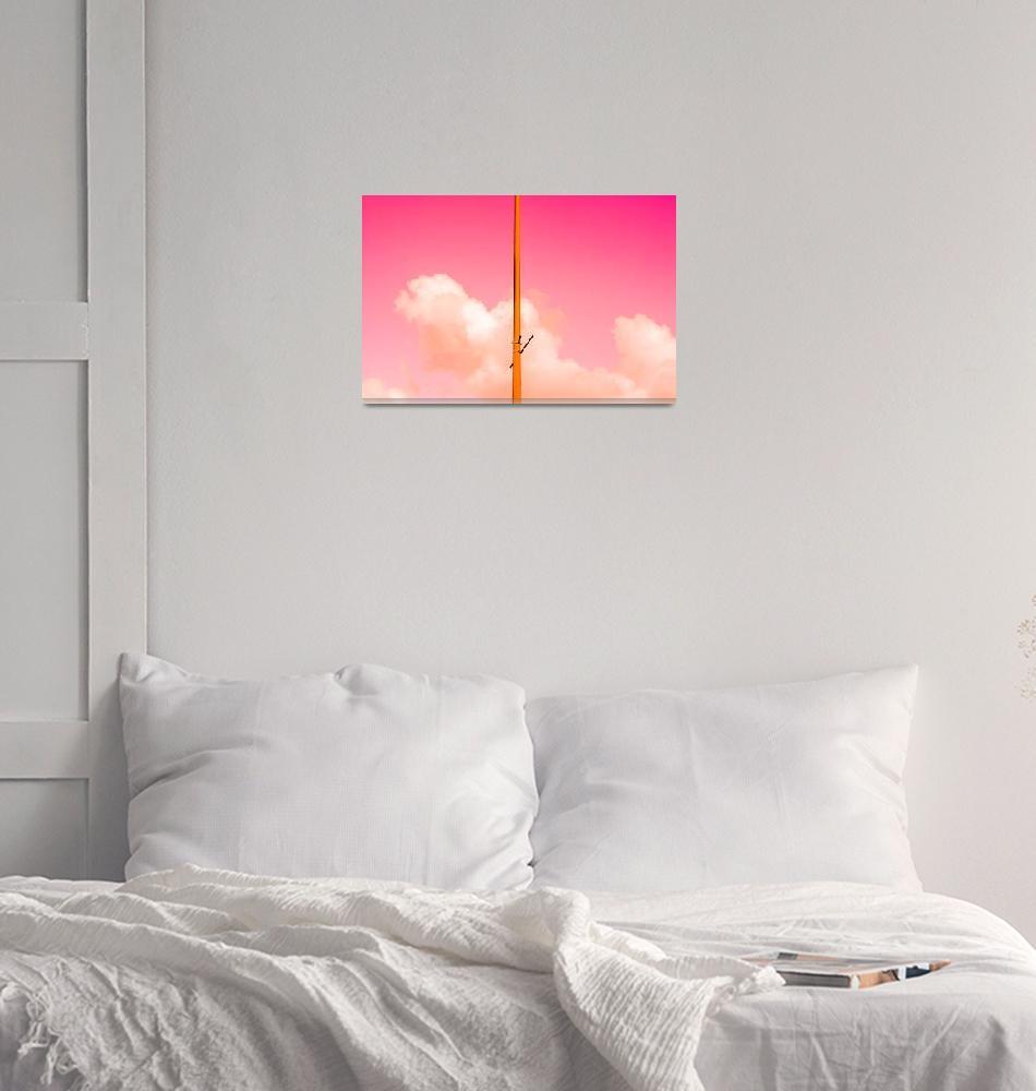 """The Pink Half""  (2017) by talpazfridman"