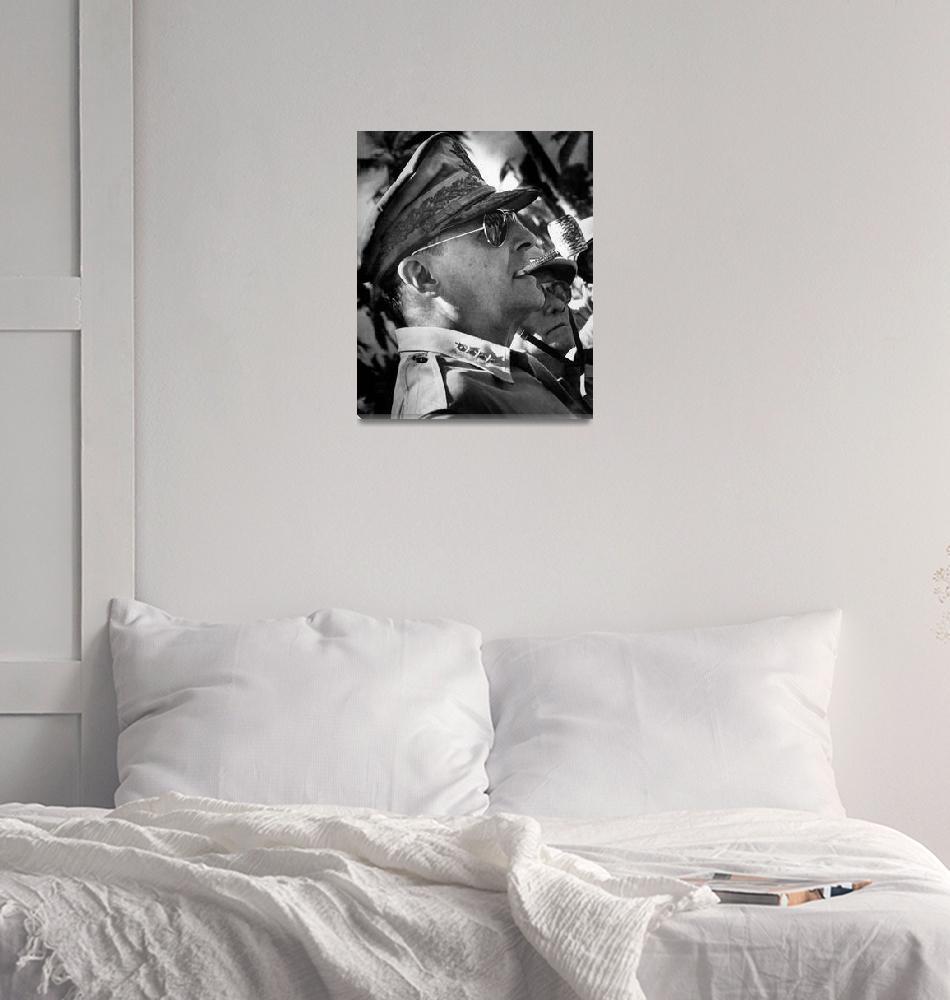"""Digitally restored vector portrait of General Doug""  by stocktrekimages"