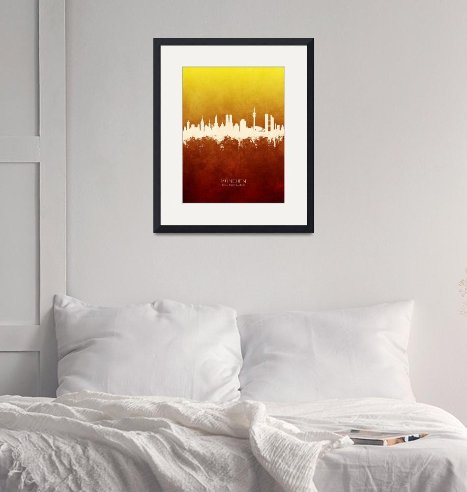"""Munich Germany Skyline"" (2019) by ModernArtPrints"