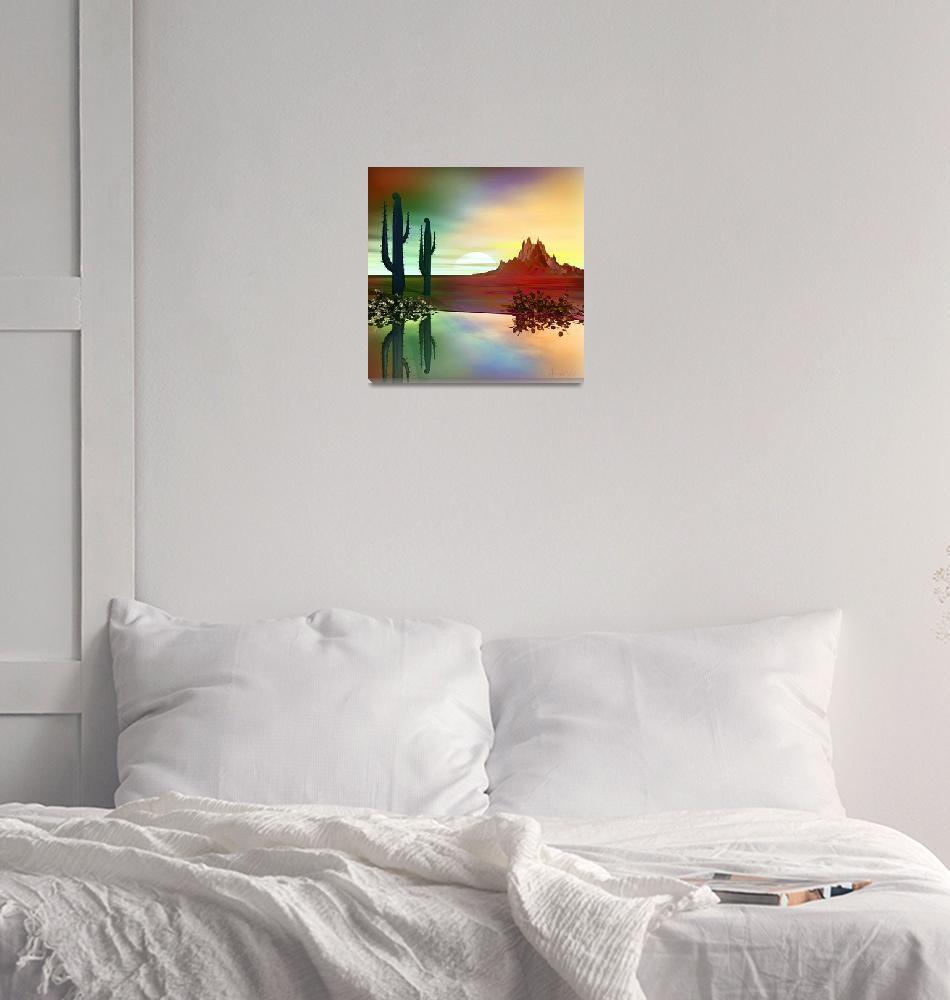 """Water in the Desert""  (2007) by AnneVis"