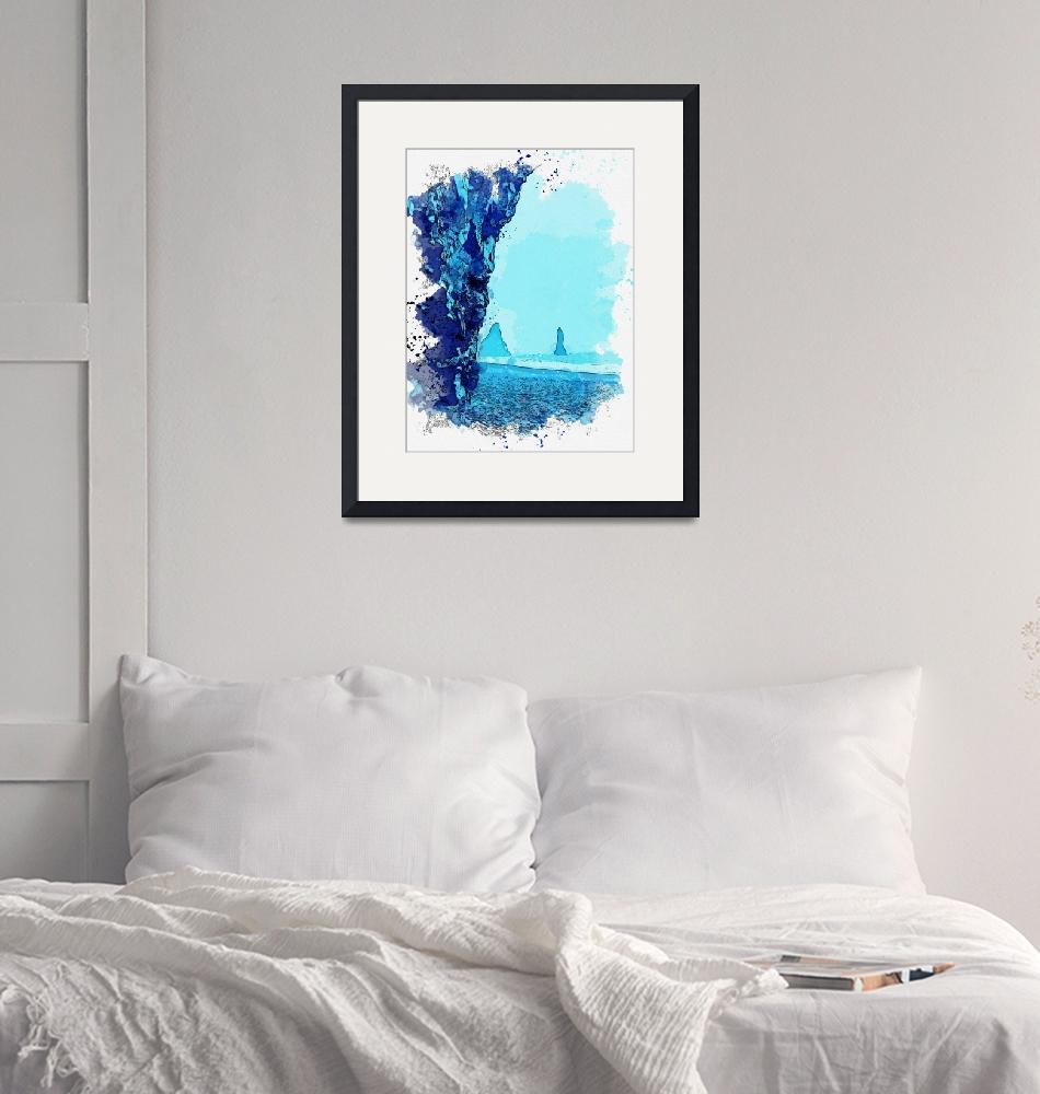 """""""Iceland coast -  watercolor by Adam Asar""""  by motionage"""
