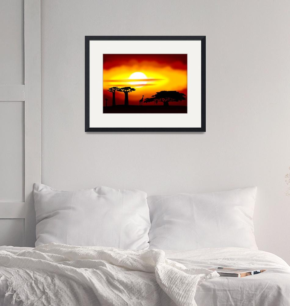 """""""Africa sunset""""  (2011) by lamich"""