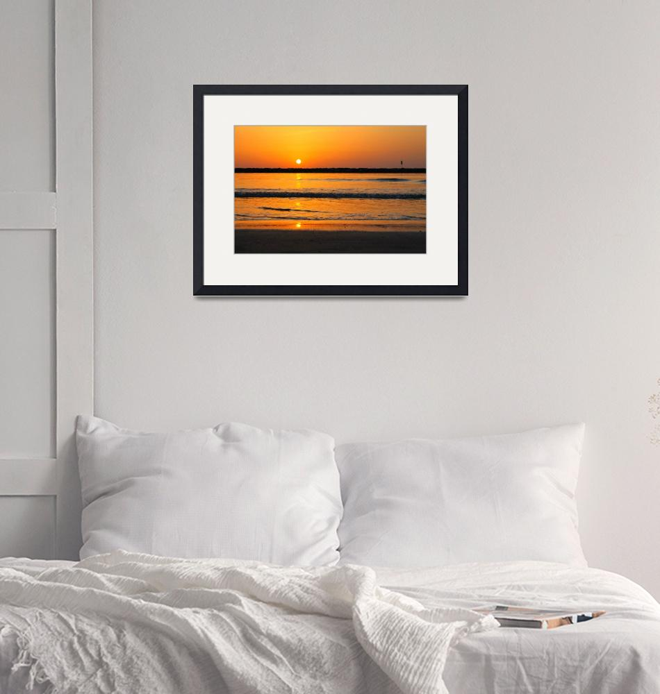 """""""Sunset on the beach 1""""  (2015) by Hirschphotography"""